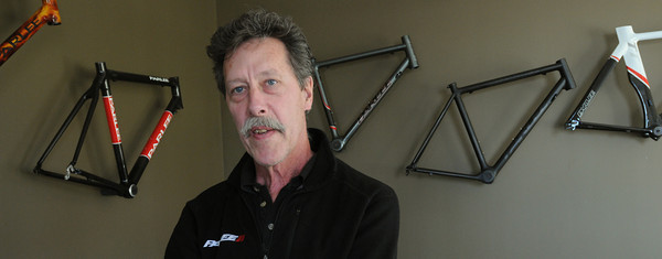 Beverly:<br /> Bob Parlee of Parlee Cycles.<br /> Photo by Ken Yuszkus/Salem News, Friday, April 13, 2012.