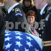 Beverly:<br /> Elizabeth Crawford, watches the flag draped casket of her son, Stephen R. Fortunato, who died in Afghanistan, is carried to the gravesite at St. Mary's Cemetery.<br /> Photo by Ken Yuszkus/Salem News, Friday, October 24, 2008.