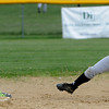 Peabody:<br /> Chelmsford's Abby Johnson reaches for the ball as Bishop Fenwick's Kim Shinnick slides into second safely while stealing the base in the Chelmsford at Bishop Fenwick softball game.<br /> Photo by Ken Yuszkus/Salem News, Friday, May 14, 2010.