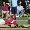 Beverly:<br /> Gloucester's Kyle Lucido dives back to 1st base safely as Beverly's Chris Mitchell waits for the throw at the Gloucester at Beverly Division 2 North playoff quarterfinal baseball game.<br /> Photo by Ken Yuszkus/Salem News, Monday, June 6, 2011.