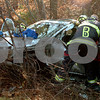 Beverly:<br /> The scene of the one car accident on Route 128 northbound, just before exit 17 on Tuesday morning.<br /> Photo by Ken Yuszkus/Salem News, Monday November 18, 2008.