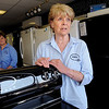 Danvers:<br /> Bobbie Douglass, right, of Douglass Appliance in Danvers, speaks about the upcoming sales tax holiday. Brenda Ferris who also works there, is in the background.<br /> Photo by Ken Yuszkus/Salem News, Friday, August 5, 2011.
