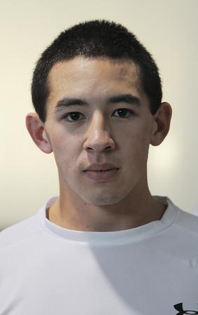 Danvers:<br /> David Kou is a wrestler at St. John's Prep.<br /> Photo by Ken Yuszkus/Salem News, Tuesday, January 10, 2012.