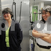 Salem:<br /> Cindy Theriault, left, who manages the programs finances, and Patti Morsillo, who does technology, work with  Deborah Jeffers. Deborah Jeffers was a long-time Salem school cook when she decided to swoop in and try to run the beleaguered food program. One year later, she and her team have turned things around.<br /> Photo by Ken Yuszkus/Salem News, Tuesday, July 7, 2009.