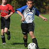 Peabody:<br /> Peabody's Joe Cerranti moves the ball upfield during the Peabody vs Salem U12 game during the Peabody Youth Soccer's annual Columbus Day Tournament at Kennedy School fields.<br /> Photo by Ken Yuszkus/Salem News, Monday, October 10, 2011.