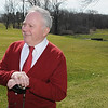 Beverly:<br /> Mayor Bill Scanlon just finished hitting a golf ball from the first tee to mark the opening of the Beverly Golf and Tennis Club under its new operator, Golf Facilities Management Inc..<br /> Photo by Ken Yuszkus/Salem News, Thursday, March 25, 2010.