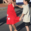 Danvers:<br /> Kathryn Kelter and her cousin Lewis Hopkins, both 6 years old and both from Danvers, dance to the music at the Danvers Family Festival held in Danvers Square.<br /> Photo by Ken Yuszkus/Salem News, Thursday, June 28,  2012.