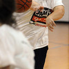 Danvers:<br /> Heather Hicks a senior at North Shore Tech, shoots the ball toward the net at tryouts for girls basketball at Essex Aggie.<br /> Photo by Ken Yuszkus/Salem News, Friday, December 3, 2010.