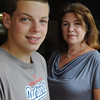 Beverly:<br /> Jon Doherty and Michelle Lipinski were in a documentary about a year of school at Recovery High.<br /> Photo by Ken Yuszkus/Salem News, Monday, August 8, 2011.