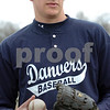 Danvers:<br /> Tim Wilkinson, a two-sport Danvers guy who recently won a Boston Bruins/MIAA sportsmanship award, at baseball practice.<br /> Photo by Ken Yuszkus/Salem News, Tuesday, April 7, 2009.