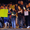 Ipswich:<br /> People line Route 1A during the vigil held for Tony Woo at the center of town. Woo, owner of the Majestic Dragon restaurant on Route 1, was found dead on Tuesday, Sept. 27.  He was well-known and well-liked by folks in Ipswich.<br /> Photo by Ken Yuszkus/Salem News, Monday, October 3, 2011.