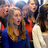 Beverly:<br /> Beverly High School Vocal Ensemble sings a musical selection during the inaugural ceremony in the council chamber of the city hall.<br /> Photo by Ken Yuszkus/Salem News, Monday, January 4, 2010