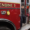 Wenham:<br /> Brayden Haley, of Beverly, explores engine 3 at the Wenham Fire department open house on Wednesday evening.<br /> Photo by Ken Yuszkus/Salem News, Wednesday, October 12, 2011.
