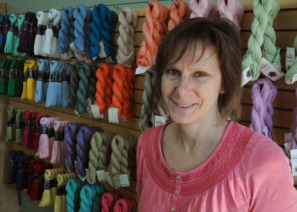 Beverly:<br /> Laurie Smith, Beverly native, opened a new yarn store, The Knit Stitch, in Beverly.<br /> Photo by Ken Yuszkus/Salem News, Friday, August 19, 2011.