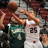 Salem:<br /> Salem's Raphy Medrano goes for a basket at the Lynn Classical at Salem boys basketball game.<br /> Photo by Ken Yuszkus/Salem,  News, Tuesday,  December 21, 2010.