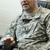 Danvers:<br /> Lt. Mark Gauthier of the 101st Field Artillery, 2nd Corps, Mass. National Guard, speaks about the recent  tour in Afghanistan.<br /> Photo by Ken Yuszkus/Salem News, Thursday, May 26, 2011.