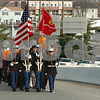 Salem:<br /> At the start of the annual Bridging the Gap ceremonies, both Beverly, pictured, and Salem marched to the middle of the Veterans Memorial Bridge. Students, faculty, and politicians from both Salem and Beverly spoke during the proceedings at the Salem/Beverly town line.<br /> Photo by Ken Yuszkus/Salem News, Monday November 24, 2008.