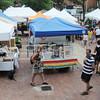 Salem:<br /> People walk amongst the vendor's stands at the Salem Farmers Market.<br /> Photo by Ken Yuszkus/Salem News, Thursday, July 5,  2012.