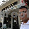 Ipswich:<br /> Umesh Bhuju, owner of Zumi's, stands in front of his business.<br /> Photo by Ken Yuszkus/Salem News, Wednesday, August 5, 2009.