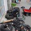 Swampscott:<br /> Equipment is brought in for the shooting of Seth Mac Farlane's movie, Ted, at 441 Atlantic Avenue in Swampscott on Wednesday. <br /> Photo by Ken Yuszkus/Salem News, Wednesday, May 4, 2011.