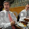 Salem;<br /> John Tierney, left, and John Keenan, speak about the election while eating breakfast at Red's Sandwhich Shop the morning after the election.<br /> Photo by Ken Yuszkus/Salem News, Wednesday, November 5, 2008.