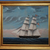 "Marblehead:<br /> This painting is part of the new exhibit, ""Marblehead Ship Captains and the Ships in Which They Sailed "". The exhibit celebrates Marblehead's maritime traditions, salutes her sea captains, and displays portraits and models of the vessels they sailed. This painting is of the ship, Mary Helen of Salem which had a captain from Marblehead<br /> Photo by Ken Yuszkus/Salem News, Tuesday, November 8, 2011."