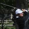 Beverly:<br /> St. John's Prep's Nick Pandelena hits off the 12th tee at the Division 1 North golf sectionals at Beverly Golf and Tennis Club.<br /> Photo by Ken Yuszkus/Salem News, Monday, October 24, 2011.