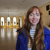 "Salem:<br /> Sound artist Susan Philipsz will be installing her ""If I Were You, I Would Go"" sound system in Marine Hall at Peabody Essex Museum. She is standing in Marine Hall.<br /> Photo by Ken Yuszkus/Salem News, Tuesday, May 3, 2011.<br /> , Salem:<br /> Sound artist Susan Philipsz will be installing her ""If I Were You, I Would Go"" sound system in Marine Hall at Peabody Essex Museum. She is standing in Marine Hall.<br /> Photo by Ken Yuszkus/Salem News, Tuesday, May 3, 2011."