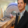 Danvers:<br /> Dr. Steven Defossez, medical director of Beverly Hospital at Danvers MRI Center stands near the 3T machine at the hospital.<br /> Photo by Ken Yuszkus/Salem News/ Tuesday September 16, 2008.