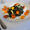 Salem:<br /> Sautered Swiss chard with pumpkin is Kate Hammond's thanksgiving recipe. She is a chef at The Grapevine Restaurant,  <br /> Photo by Ken Yuszkus/Salem News,  Friday,  November 12, 2010.