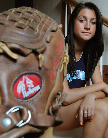 Peabody:<br /> Mary Kate Helas will play this Sunday in the Agganis softball game.<br /> Photo by Ken Yuszkus/Salem News, Monday, July 4, 2011.