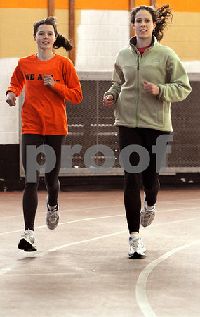 Beverly:<br /> Millie Chapman, left, and Monica Adler, both juniors, are Beverly track standouts.<br /> Photo by Ken Yuszkus/Salem News, Wednesday March 4, 2009.