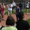 Salem:<br /> The 6th graders at the Collins Middle School participate in a walkathon around Bertram Field.  For weeks, the school has been raising funds for tsunami relief in Japan.<br /> Photo by Ken Yuszkus/Salem News, Friday, May 6, 2011.