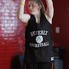 Beverly:<br /> Jenn Ashton during the Beverly High girls basketball practice at Memorial School gymnasium.<br /> Photo by Ken Yuszkus/Salem News, Thursday, January 13, 2011.