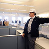 Salem:<br /> Richard L'heureux, right, manager of program and design for the trial court state system, describes features of district court clerk magistrate's room on the 1st floor while conducting a tour of the new state courthouse for members of the Salem Partnership.<br /> Photo by Ken Yuszkus/Salem News, Tuesday, November 31, 2011.