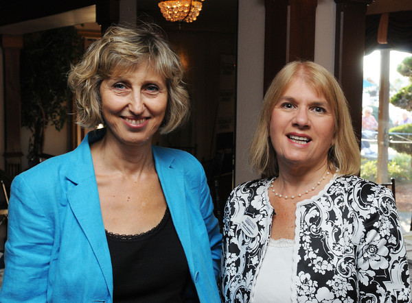 Danvers;<br /> Lara Chiltonof TD Bank, left, and Helene VanDernoot of the Institute for Corporate Training & Technology, attend the 10th anniversary celebration of the North Shore Technology Council held at the Danversport Yatch Club.<br /> Photo by Ken Yuszkus/The Salem News, Wednesday, September 12, 2012.