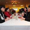 Peabody:<br /> Phyllis Madanian, left, of the Peabody Athletic Club/Full Force Training, and Michelle Miakos, of UCSA International, talk during the speed networking event between Beverly and Peabody chamber of commerces at the Holiday Inn-Peabody.<br /> Photo by Ken Yuszkus/Salem News, Thursday, March 4, 2010.