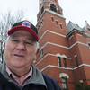 Marblehead:<br /> Ron Plante, president of Boston Chimney & Tower Company, stands near Abbot Hall where his company removed the weather vane.<br /> Photo by Ken Yuszkus/Salem News, Thursday,  March 15, 2012.