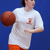 Beverly:<br /> Ashley Chalifour during the Beverly High girls basketball practice at Memorial School gymnasium.<br /> Photo by Ken Yuszkus/Salem News, Thursday, January 13, 2011.
