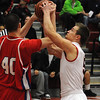 Salem:<br /> Salem's Bradley Skeffington wrestles to keep possession of the ball during the Burlington at Salem boys basketball game in first round of Division 2 North state playoffs.<br /> Photo by Ken Yuszkus/Salem News, Tuesday, March 1, 2011.