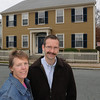Peabody:<br /> Jeannette and Peter McGinn stand on Park Street in front of their home. Habitat for Humanity's work in their neighborhood will improve their neighborhood.<br /> Photo by Ken Yuszkus/Salem News, Monday November 23, 2009.