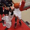 Salem:<br /> Salem's Christian Dunston shoots the ball toward the basket during the Malden Catholic at Salem boys basketball state tournament home playoff game.<br /> Photo by Ken Yuszkus/Salem News, Monday,  February 27, 2012.