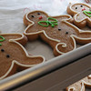 Lynn:<br /> Gingerbread cookies wait on a tray after baking. Swampscott resident Sandra Rhoads owns Starlight Creatives. Sandra started baking and decorating cookies in her Swampscott home. Seven years later, her cookie business is booming. <br /> Photo by Ken Yuszkus/Salem News, Thursday,  December 9, 2010.
