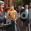 Salem:<br /> Senator John Kerry speaks about Salem being part of the 2008 Great Neighborhoods in America. The announcement was made in front of the old town hall in the middle of the day.<br /> Photo by Ken Yuszkus/Salem News, Wednesday October 8, 2008.