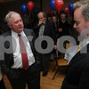 Beverly:<br /> Mayor William Scanlon, left, refuses to shake hands with John Burke, who lost the mayoral race.<br /> Photo by Ken Yuszkus/Salem News, Tuesday November 3, 2009.