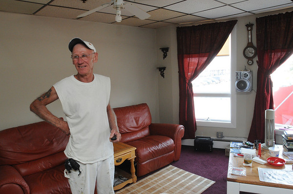 Beverly:<br /> Charles Rossetti is one of the residents of the veterans home at the corner of Park Street and Railroad Avenue in Beverly. He is in his apartment.<br /> Photo by Ken Yuszkus/Salem News, Tuesday, June 28, 2011.