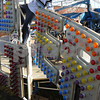 "Salem:<br /> Darren Ferguson of Haverhill, dismantles the carnival ride ""Thunder Bolt"" located on Derby Street now that Halloween is over. <br /> Photo by Ken Yuszkus/Salem News, Sunday November 1, 2009."
