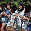 Beverly:<br /> The clarinets practice while in formation during the Beverly High School band camp in the parking lot in back of the school.<br /> Photo by Ken Yuszkus/Salem News, Thursday,  August 19, 2010.