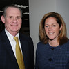 Beverly:<br /> David LaFlamme, president and CEO of North Shore Bank, left, and Karen Sawyer, director of the Peabody office of community development and planning, attend the North Shore Alliance for Economic Development's winter quarterly meeting in the Cummings Center Community Conference Room.<br /> Photo by Ken Yuszkus/Salem News, Thursday, January 21, 2010.