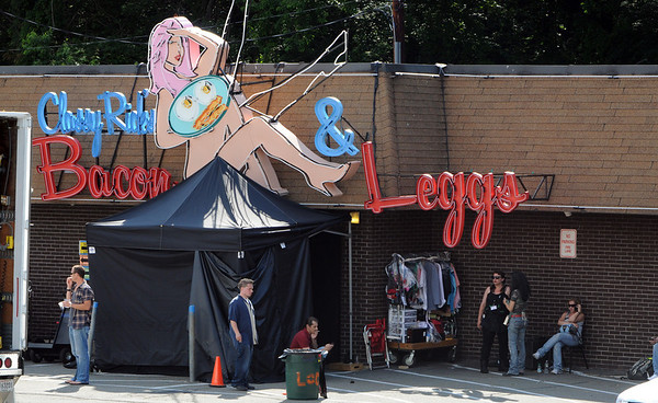 Peabody:<br /> The Cabaret Lounge with the temporary new name of Classy Rick's Bacon and Leggs.<br /> Photo by Ken Yuszkus/Salem News, Wednesday, June 29, 2011.